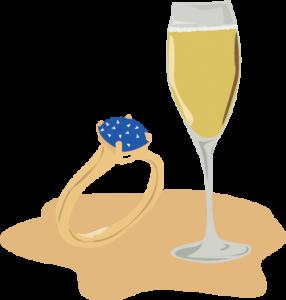 illustration champagne