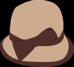 dessin chapeau femme année 50